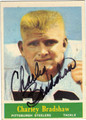 CHARLEY BRADSHAW AUTOGRAPHED VINTAGE FOOTBALL CARD #100712D