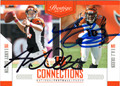 ANDY DALTON & AJ GREEN DOUBLE AUTOGRAPHED FOOTBALL CARD #100712J