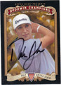 DUSTIN JOHNSON AUTOGRAPHED GOLF CARD #100812A