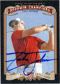 ZACH JOHNSON AUTOGRAPHED GOLF CARD #100812C