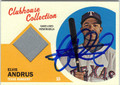 ELVIS ANDRUS AUTOGRAPHED PIECE OF THE GAME BASEBALL CARD #100812i