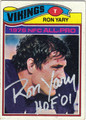 RON YARY AUTOGRAPHED VINTAGE FOOTBALL CARD #100812J
