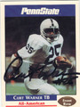 CURT WARNER PENN STATE NITTANY LIONS AUTOGRAPHED FOOTBALL CARD #100813A
