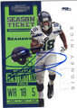SIDNEY RICE SEATTLE SEAHAWKS AUTOGRAPHED FOOTBALL CARD #100813i