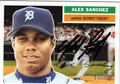 ALEX SANCHEZ AUTOGRAPHED BASEBALL CARD #100912i