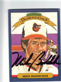 MIKE BODDICKER BALTIMORE ORIOLES AUTOGRAPHED VINTAGE BASEBALL CARD #100913F