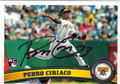 PEDRO CIRIACO PITTSBURGH PIRATES AUTOGRAPHED ROOKIE BASEBALL CARD #100913G