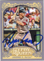 RYAN LAVARNWAY BOSTON RED SOX AUTOGRAPHED BASEBALL CARD #100713G