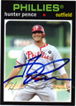 HUNTER PENCE AUTOGRAPHED BASEBALL CARD #101012B