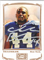 AHMAD BRADSHAW NEW YORK GIANTS AUTOGRAPHED FOOTBALL CARD #101013i