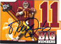 MATT LEINART USC TROJANS AUTOGRAPHED ROOKIE FOOTBALL CARD #101013K