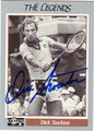 DICK STOCKTON AUTOGRAPHED TENNIS CARD #101011A