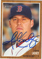 JOHN LACKEY BOSTON RED SOX AUTOGRAPHED BASEBALL CARD #101113F