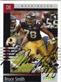 BRUCE SMITH WASHINGTON REDSKINS AUTOGRAPHED FOOTBALL CARD #101213B