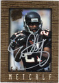 ERIC METCALF ATLANTA FALCONS AUTOGRAPHED FOOTBALL CARD #101313C