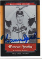 WARREN SPAHN MILWAUKEE BRAVES AUTOGRAPHED BASEBALL CARD #101313F