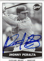 JHONNY PERALTA AUTOGRAPHED ROOKIE BASEBALL CARD #101411Q