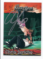 CHRIS JERICHO AUTOGRAPHED WRESTLING CARD #101410O