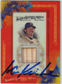 IAN KINSLER AUTOGRAPHED PIECE OF THE GAME BASEBALL CARD #101511E