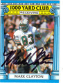 MARK CLAYTON MIAMI DOLPHINS AUTOGRAPHED VINTAGE FOOTBALL CARD #101513i