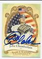 JOBA CHAMBERLAIN AUTOGRAPHED BASEBALL CARD #101610G