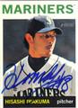HISASHI IWAKUMA SEATTLE MARINERS AUTOGRAPHED ROOKIE BASEBALL CARD #101613J