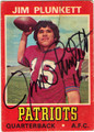 JIM PLUNKETT AUTOGRAPHED VINTAGE FOOTBALL CARD #101711J