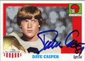 DAVE CASPER AUTOGRAPHED FOOTBALL CARD #101711N