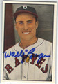 WALLY BERGER BOSTON BRAVES AUTOGRAPHED VINTAGE BASEBALL CARD #101713D
