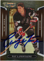PAT LaFONTAINE AUTOGRAPHED HOCKEY CARD #101711L