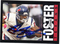 ARIAN FOSTER HOUSTON TEXANS AUTOGRAPHED FOOTBALL CARD #101713i