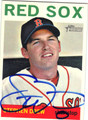 STEPHEN DREW BOSTON RED SOX AUTOGRAPHED BASEBALL CARD #101713J