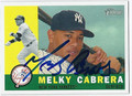 MELKY CABRERA AUTOGRAPHED BASEBALL CARD #101810A