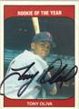 TONY OLIVA AUTOGRAPHED BASEBALL CARD #101811C