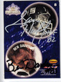 BEN DAVIDSON & SAM HUFF DOUBLE AUTOGRAPHED FOOTBALL CARD #102011C