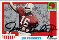 JIM PLUNKETT AUTOGRAPHED FOOTBALL CARD #102011K