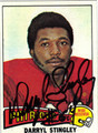DARRYL STINGLEY AUTOGRAPHED VINTAGE FOOTBALL CARD #102111A