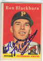RON BLACKBURN PITTSBURGH PIRATES AUTOGRAPHED VINTAGE ROOKIE BASEBALL CARD #102013i