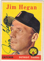 JIM HEGAN DETROIT TIGERS AUTOGRAPHED VINTAGE BASEBALL CARD #101913F