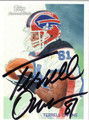 TERRELL OWENS BUFFALO BILLS AUTOGRAPHED FOOTBALL CARD #102111i