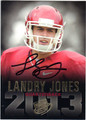 LANDRY JONES OKLAHOMA SOONERS AUTOGRAPHED ROOKIE FOOTBALL CARD #101913P
