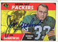 JIM GRABOWSKI AUTOGRAPHED VINTAGE ROOKIE FOOTBALL CARD #102112D