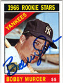 BOBBY MURCER NEW YORK YANKEES AUTOGRAPHED BASEBALL CARD #102113B