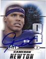 CAM NEWTON AUTOGRAPHED ROOKIE FOOTBALL CARD #10212A