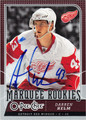 DARREN HELM DETROIT RED WINGS AUTOGRAPHED ROOKIE HOCKEY CARD #10213A