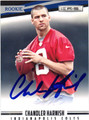 CHANDLER HARNICH INDIANAPOLIS COLTS AUTOGRAPHED ROOKIE FOOTBALL CARD #10213K