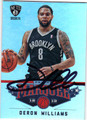 DERON WILLIAMS BROOKLYN NETS AUTOGRAPHED BOASKETBALL CARD #10214D