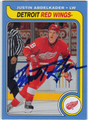 JUSTIN ABDELKADER DETROIT RED WINGS AUTOGRAPHED ROOKIE HOCKEY CARD #10214G