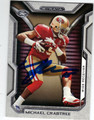 MICHAEL CRABTREE SAN FRANCISCO 49ers AUTOGRAPHED FOOTBALL CARD #10214i