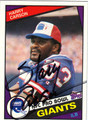 HARRY CARSON NEW YORK GIANTS AUOGRAPHED VINTAGE FOOTBALL CARD #102211F